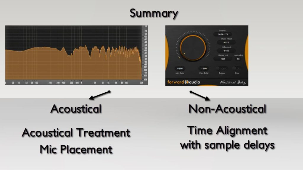 GUI of faFractionalDelay and a FFT of a Comb filter effect