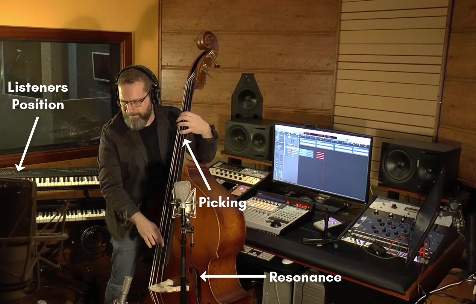Double Bass Recording with 3 different mics in different distances