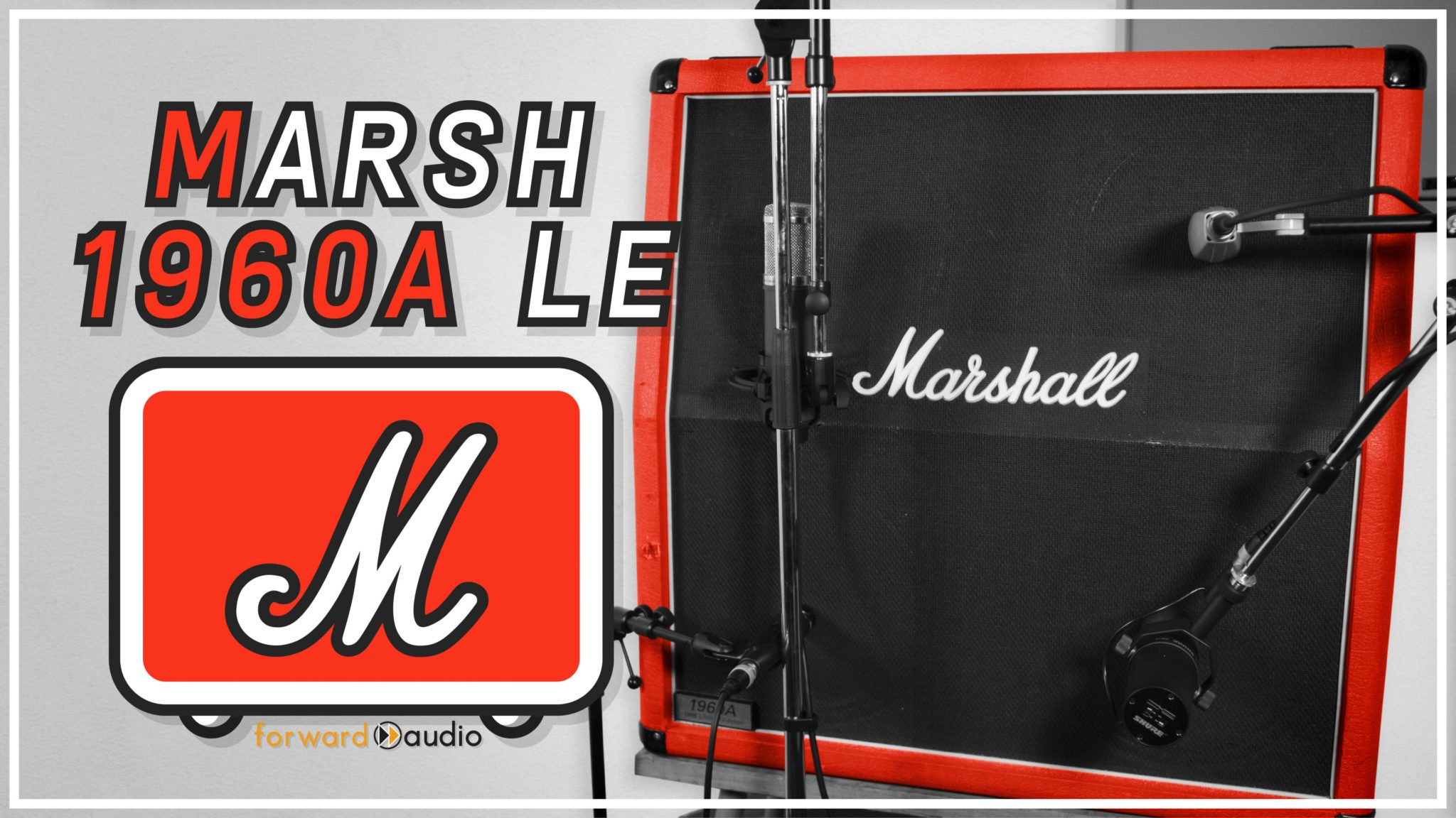 A Marshall 1960A (1995 Limited Edition) captured with 4 popular guitar microphones