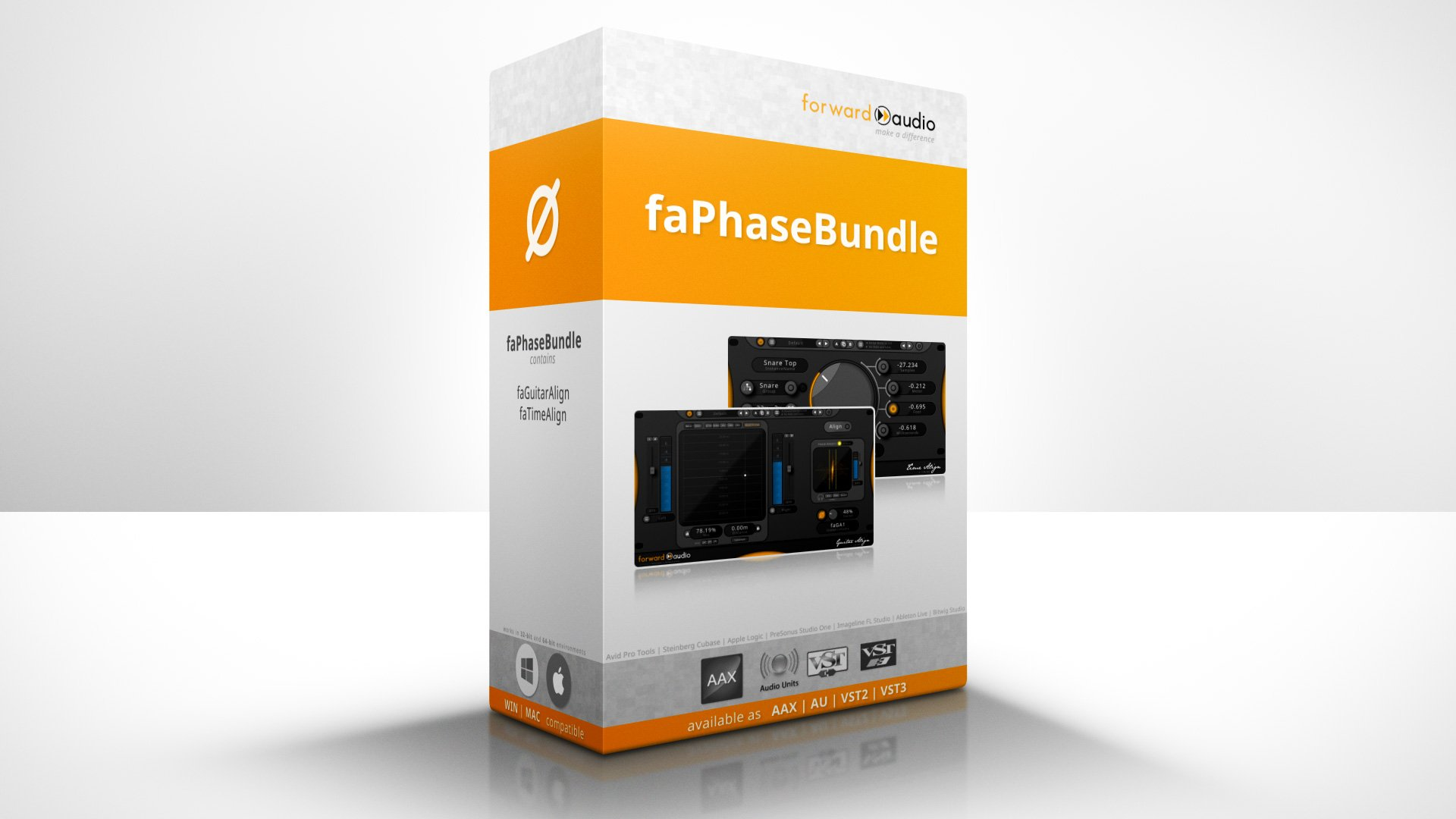 A virtual product showcase of the Phase Alignment Plugin Bundle - faPhaseBundle