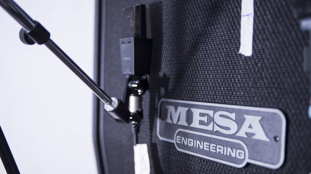 Mesa Boogie 4x12 Rectifier cab recorded with a AKG C414 B-ULS microphone
